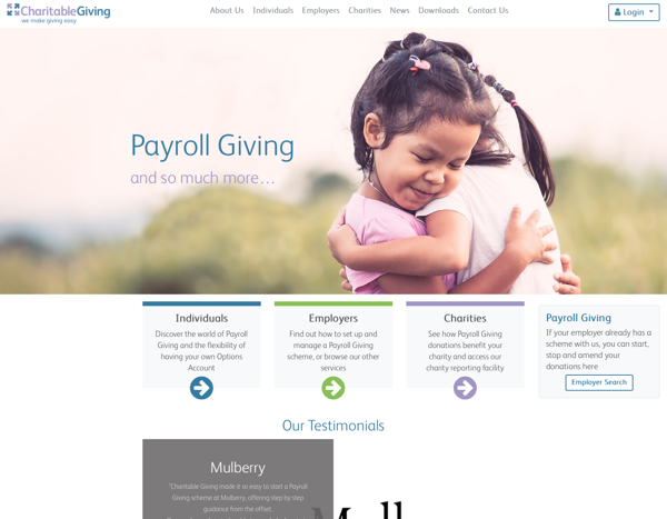 Charitable Giving homepage