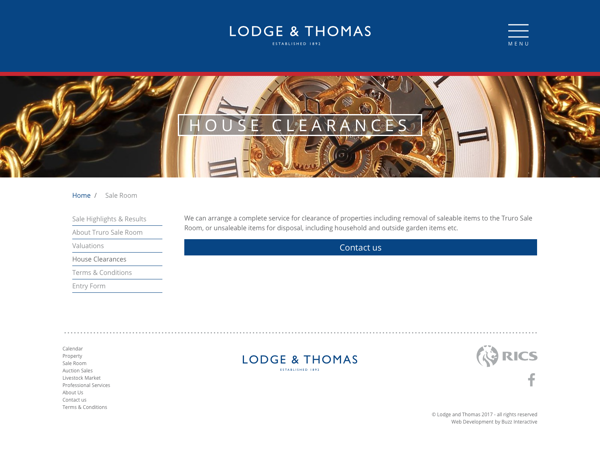 Lodge & Thomas contact page