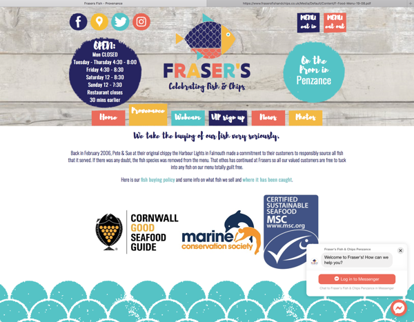 Fraser's Fish & Chips provenance